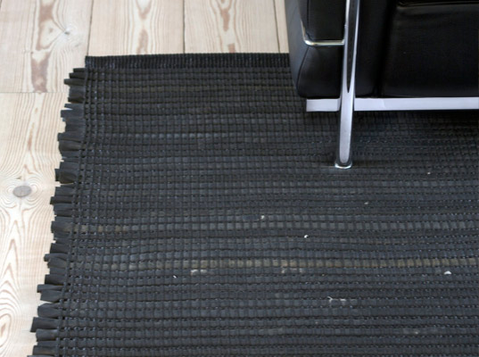 Awesome area rug from Rubber Tires!